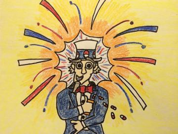 Drugged out Uncle Sam